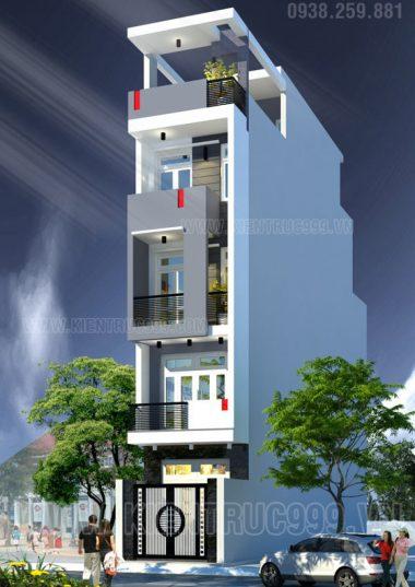 Nhà phố 5 tầng đẹp hiện đại, nhà phố 4m Nguyễn Trãi -Quận 1-TPHCM.