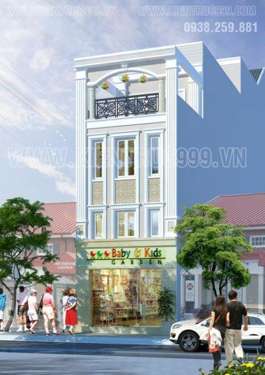 Nhà phố cổ điển 4 tầng đẹp Nơ Trang Long- TP.HCM