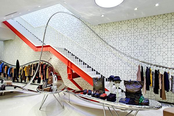 Shop thời trang đẹp có thiết kế nội thất ấn tượng Marni