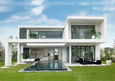 BST mẫu mặt tiền biệt thự 2 tầng đẹp hiện đại được ưa thích nhất