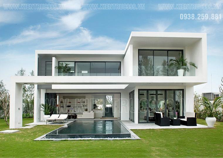 mặt tiền biệt thự 2 tầng đẹp hiện đại được ưa thích nhất