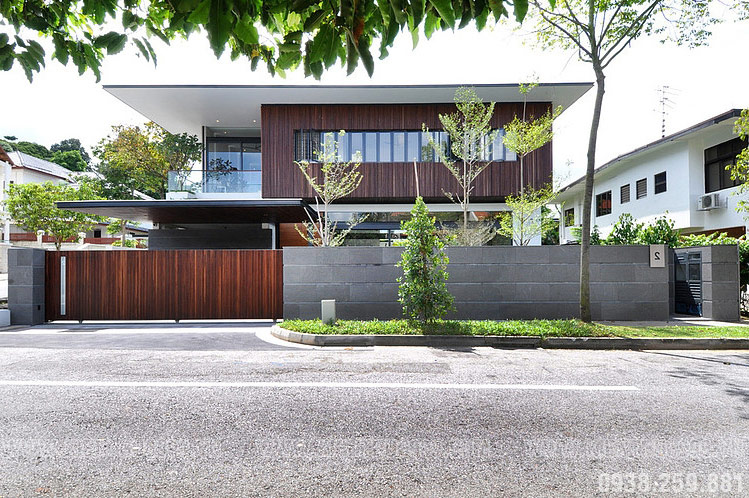 Biệt thự hiện đại 2 tầng Singapore đẹp sang trọng bậc nhất