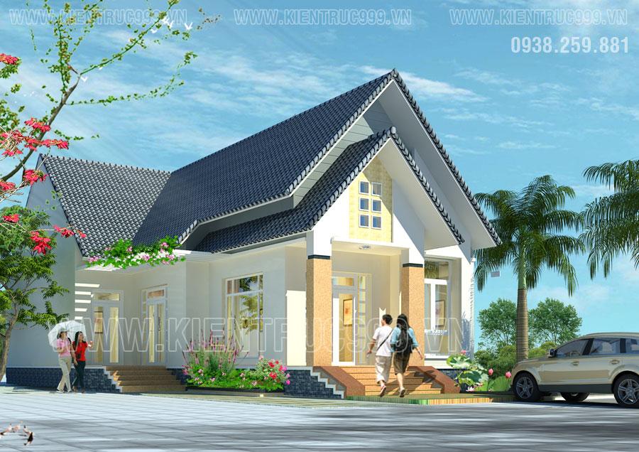 Thiết kế nhà đẹp Buôn Mê Thuột - Nhà 1 tầng đẹp hài lòng cả nhà.
