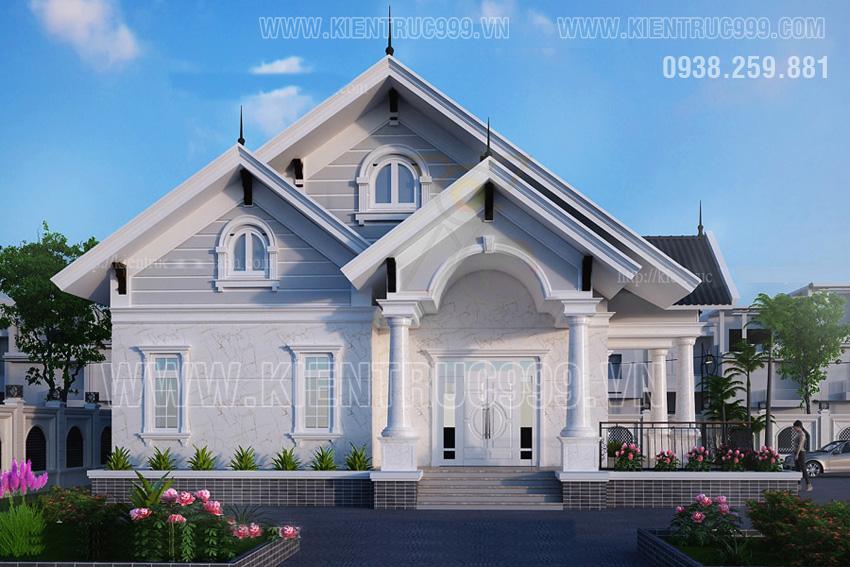 nhà một tầng đẹp-manh-me-long-an-bon-mat-deu-co-cua-so-mo-ra-san-vuon-mat-me