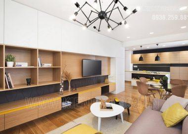 Căn hộ đẹp như mộng nhờ nội thất gỗ.