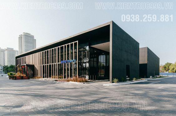 Một mẫu nhà điều hành 2 tầng, nhà văn phòng đẹp điển hình kiến trúc nước ngoài