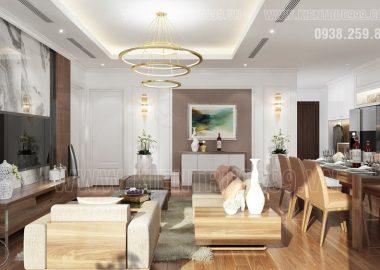 Thiết kế nội thất căn hộ hài lòng cả gia đình.