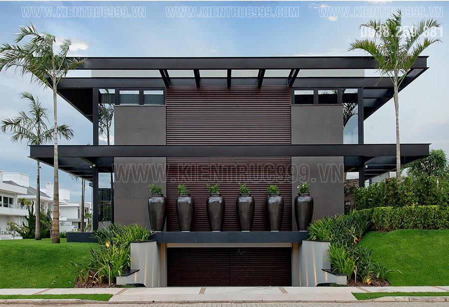 Thiết kế nhà điều hành 2 tầng, văn phòng ban quản lý nhà máy, nhà xưởng kết cấu khung thép