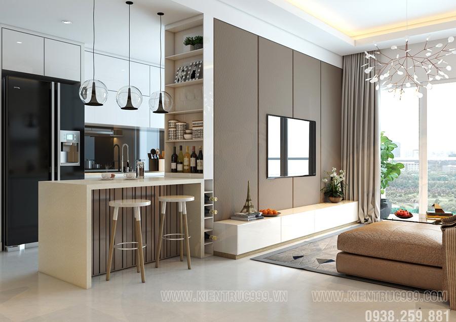 Thiết kế thi công nội thất căn hộ đẹp quận 10.