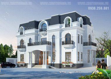 Thiết kế nhà đẹp tân cổ điển thành phố mới Bình Dương