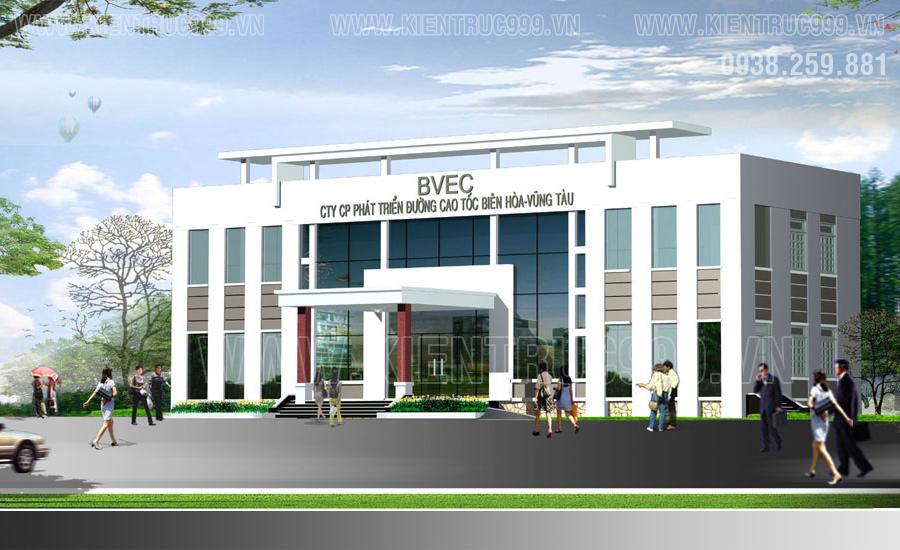 Bản vẽ thiết kế tòa nhà văn phòng 2 tầng tiện nghi và sang trọng