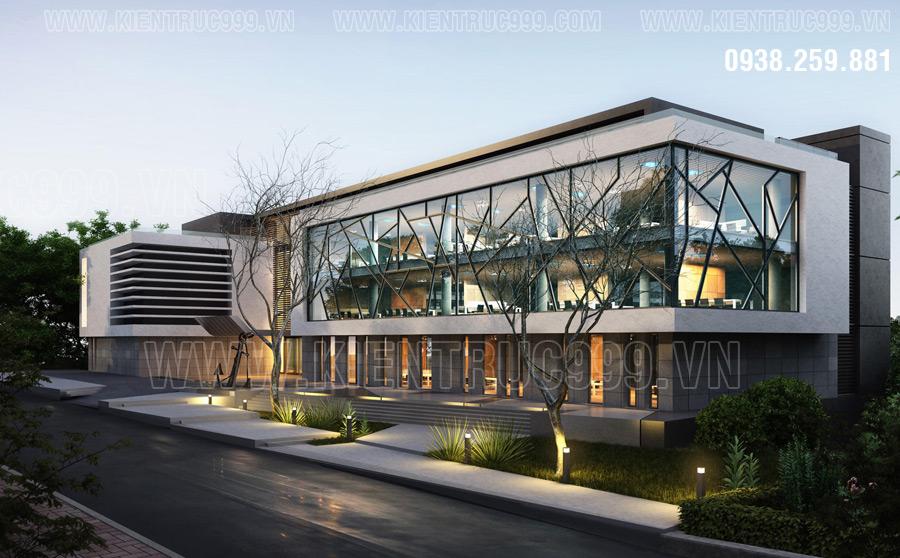 Mẫu tòa nhà văn phòng 3 tầng cho thuê cao cấp