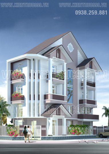 Thiết kế mẫu nhà phố lô góc 2 mặt tiền, nhà phố liên kế điển hình khu dân cư Nhơn Đức- Nhà bè