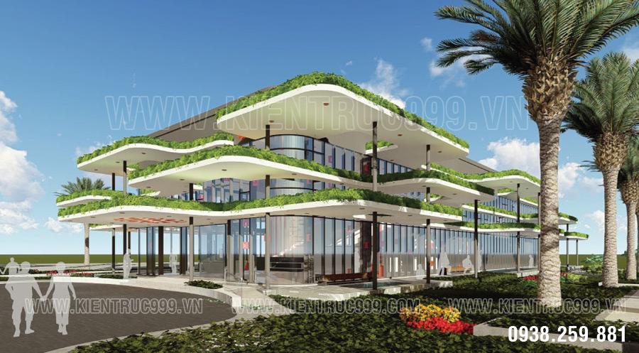 Thiết kế văn phòng xanh chú trọng sử dụng cây cối vào trang trí nội ngoại thất văn phòng