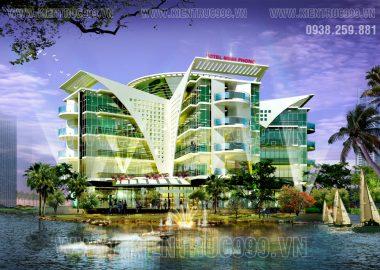 Thiết kế khách sạn Minh Phóng cạnh sông Xoài Rạp - Nhà Bè - TPHCM
