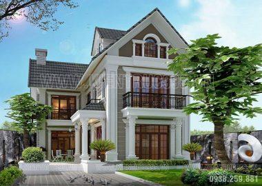 Thiết kế nhà đẹp 2 tầng đẹp rạng ngời ở Long Thành Đồng Nai