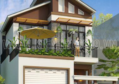 Thiết kế nhà phố 2 tầng mặt tiền 7m5 tai thành phố Buôn Mê Thuột- ĐakLak