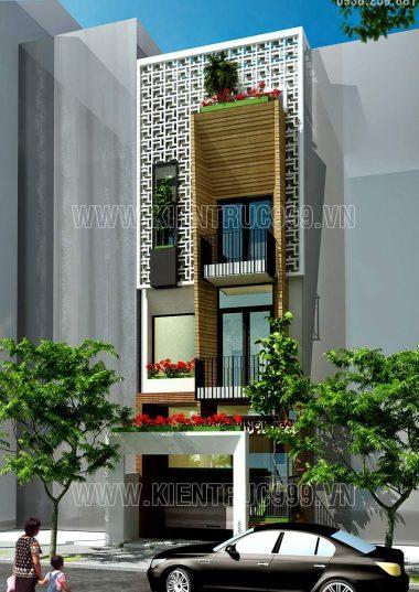 Thiết kế nhà phố kết hợp làm văn phòng quận 12-TP.HCM phong cách mới lạ.