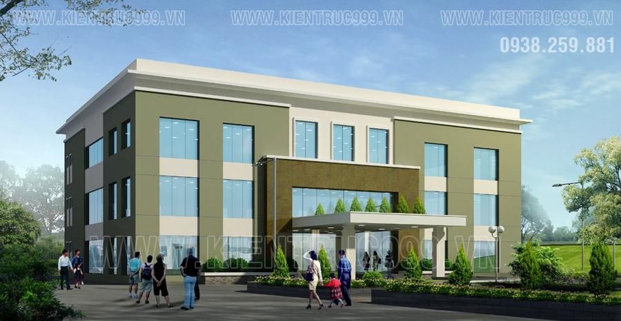 Chi phí xây dựng là một yếu tốphải quan tâm khi thiết kế nhà văn phòng ba tầng