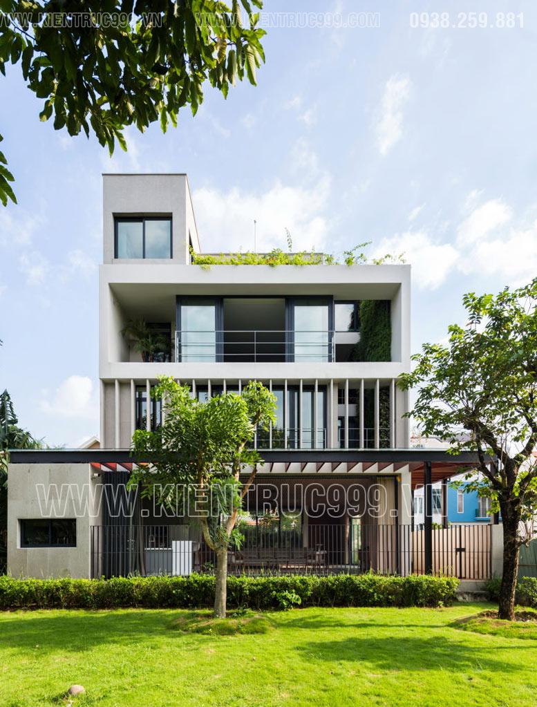 Ngắm ngôi nhà 3 tầng đẹp bình yên ở Sài Gòn.