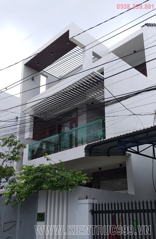 thiết kế nhà đẹp 7m5 daklak 3 tầng