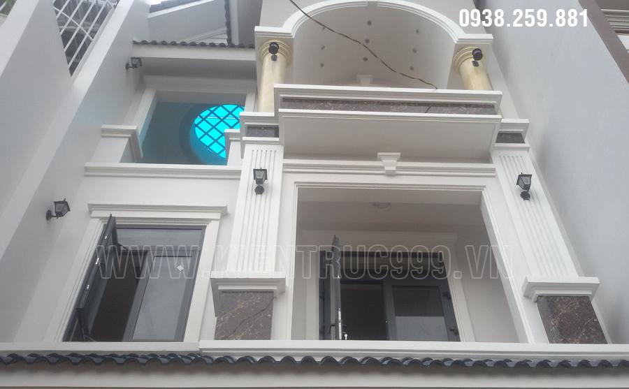Thi công nhà phố cổ điển 3 tầng đường Văn Tiến Dũng khu dân cư mới phường Tân Lợi - Buôn Mê Thuột