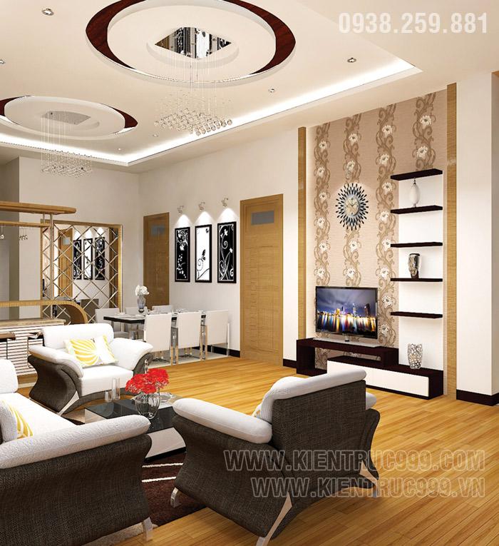 Biệt thự 1 tầng đẹp- nội thất phòng khách đẹp 8