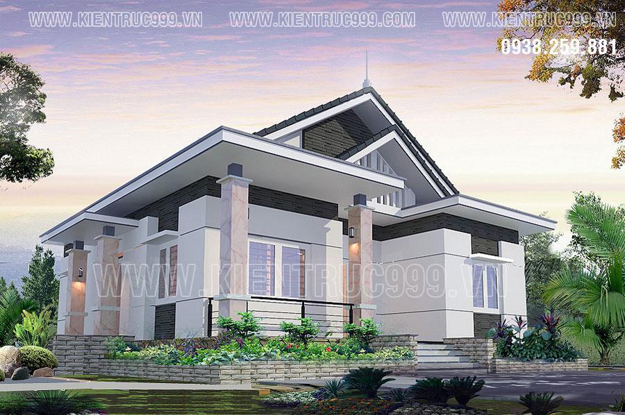 Nhà mái thái đẹp trước hết là đẹp từ thiết kế kiểu mái, kết cấu mái