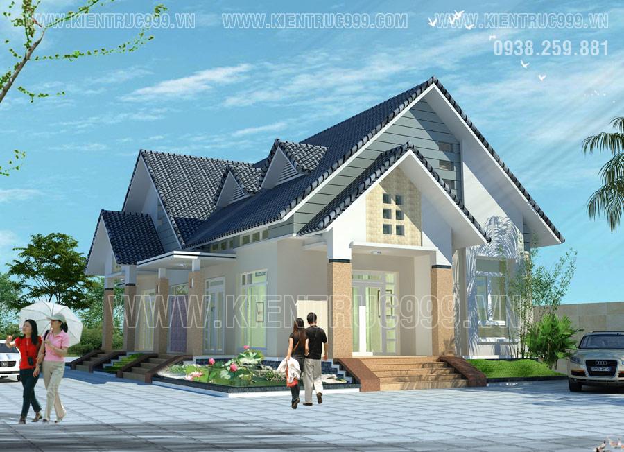 Kinh phí xây phần mái Thái đã bằng người khác xây một căn nhà cấp 4 hiện đại đơn giản