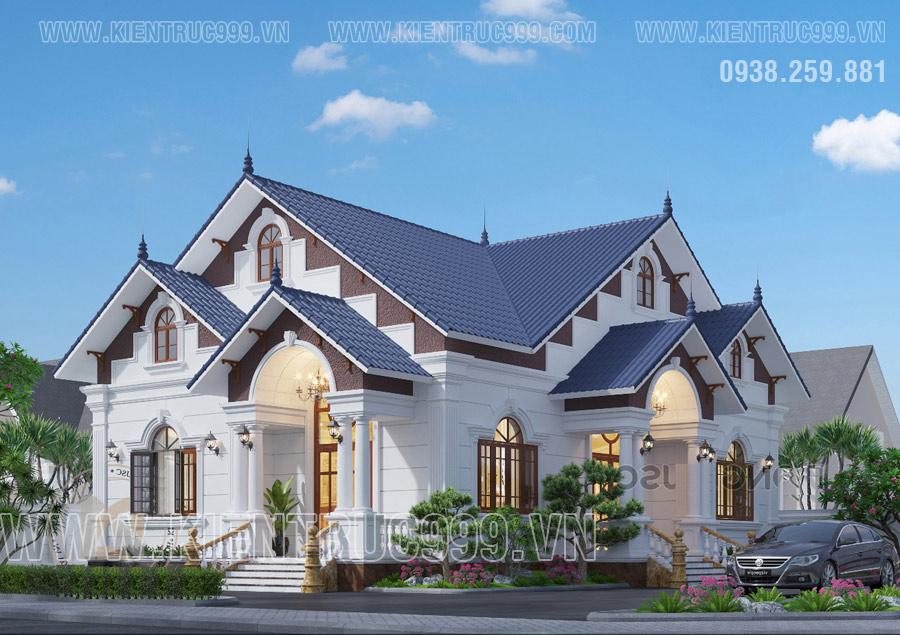 Chi phí hoàn thiện 4 mặt tiền nhà mái thái tốn kém.
