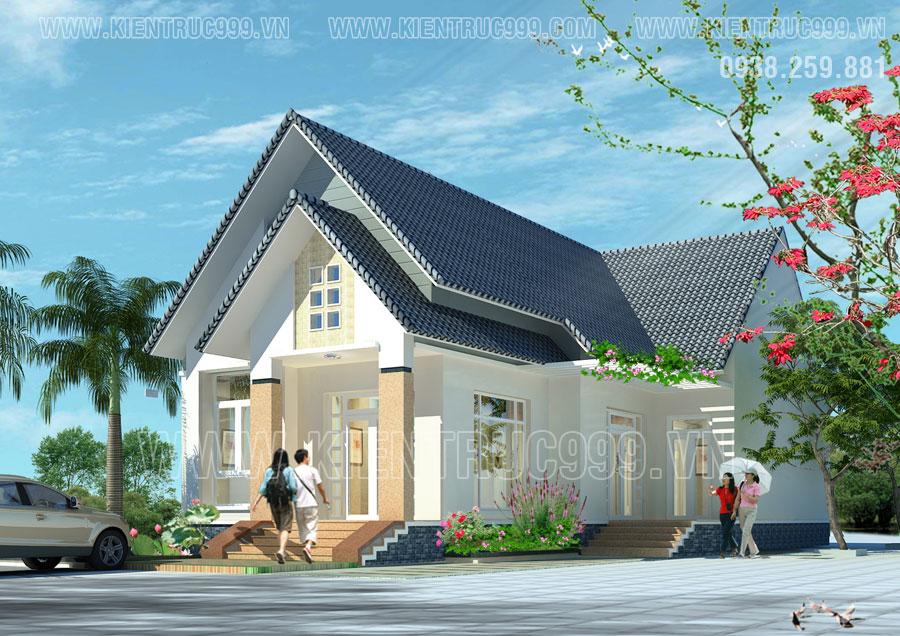 Nhà đẹp cấp 4 mái thái mang đến vạn sự hanh thông cát tường cho gia chủ.