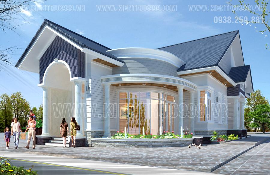nhà mái thái 1 tầng đẹp ở gành hào bạc liêu