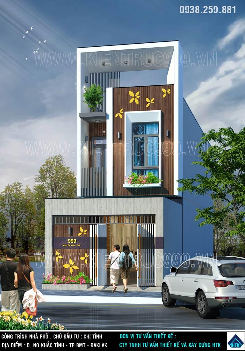 nhà phố 2 tầng đẹp-buon-me-khoe-ve-dep-noi-bat-khong-bao-gio-quen-o-buon-me