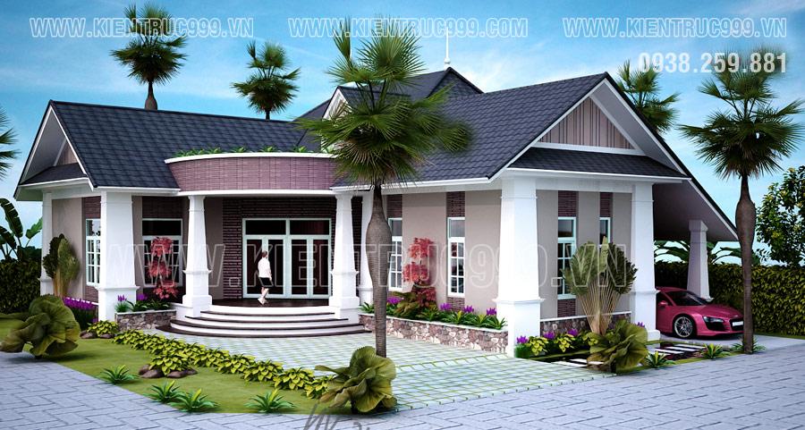 Kiểu nhà mái thái đẹp mang đến cho ngôi nhà sự tinh tế dù thiết kế hiện đại hay tân cổ điển