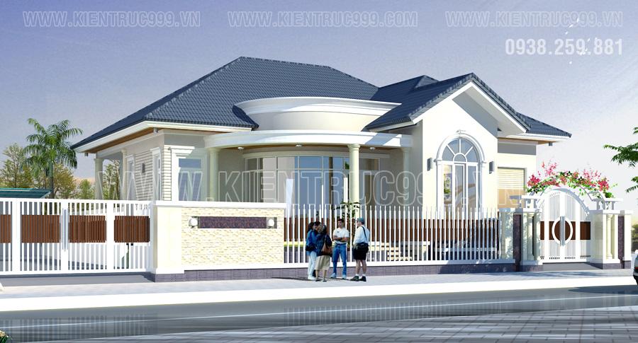 thiết kế nhà đẹp cấp 4 mái thái ở đô thị thành phố lớn là nhà của đại gia.