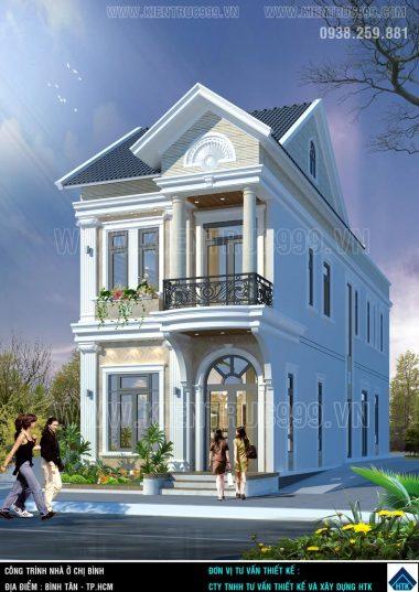 Nhà phố 1 trệt 1 lầu 4 phòng ngủ mặt tiền 6m2 đẹp Bình Tân.