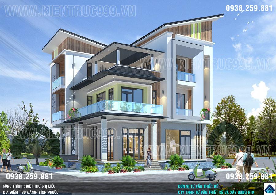 nhà mái lệch đẹp 3 tầng đi tìm vẻ đẹp mới cho kiến trúc nhà ở Việt Nam