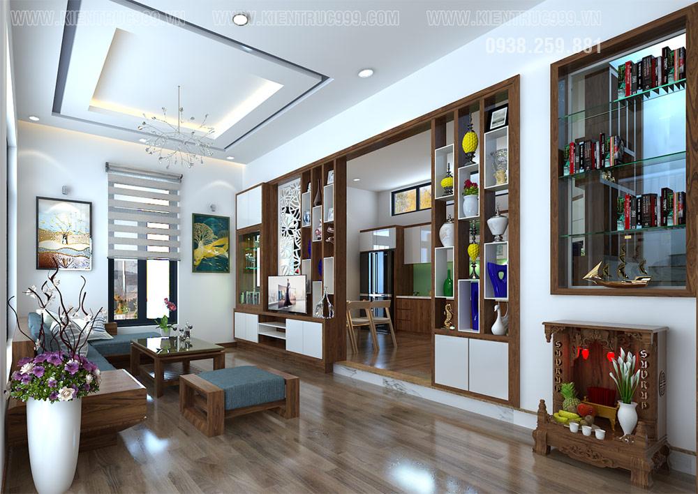 thiết kế phòng khách nhà vườn 2 tầng như thế nào là đẹp