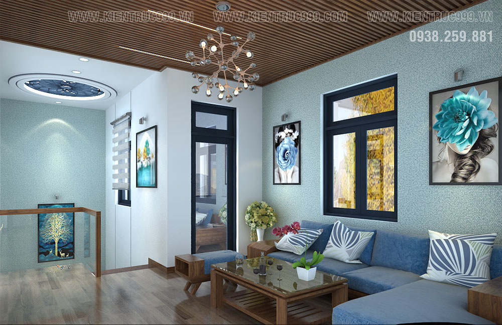 phòng sinh hoạt chung nhà vườn 2 tầng đẹp nhất 2019