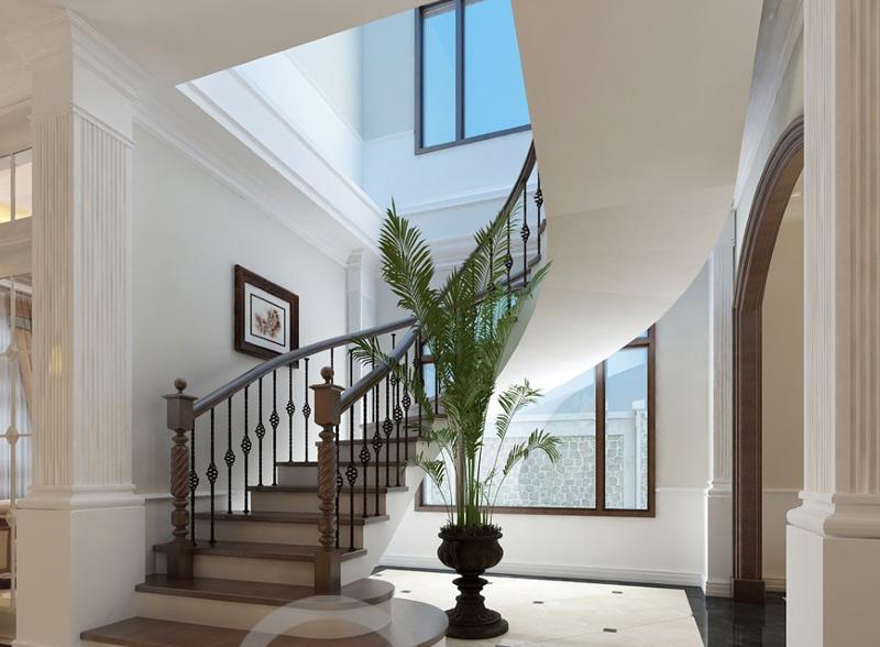 Hướng cầu thang cùng chiều hay ngược chiều kim đồng hồ
