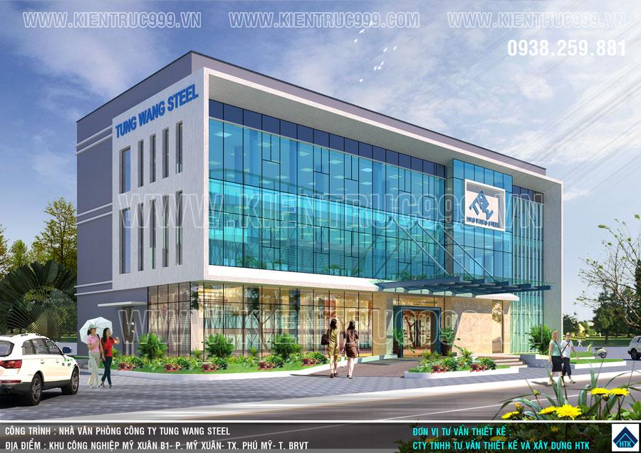 Đường nét và màu sắc hài hòa đã làm nên thiết kế nhà điều hành đẹp của kiến trúc HTK.