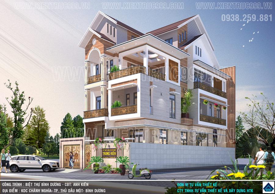mẫu nhà 4 tầng đẹp 2019 rất được yêu thích từ kiến trúc đến công năng