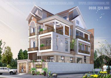 Mẫu thiết kế nhà đẹp 4 tầng có tầng lững ở  bình dương 2019