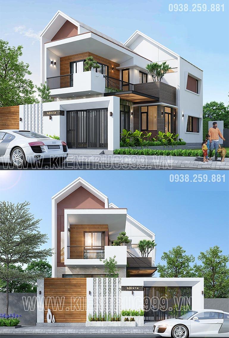 nhà 2 tầng chự L đẹp 2020