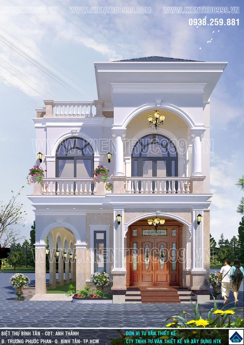 Biệt thự tân cổ điển 2 tầng kiểu Pháp phù hợp từ tỉnh đến tphcm