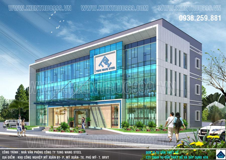 Nhà văn phòng 3 tầng điều hành nhà máy thép Tung Wang KCN Mỹ Xuân