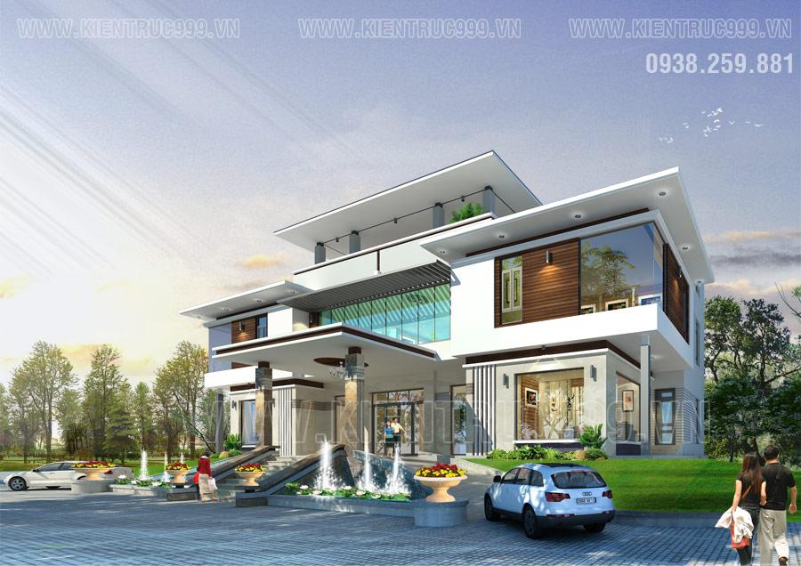 Kiến trúc nhà điều hành 2 tầng đẹp tại xã Đá Bạc- Ngãi Giao- Bà Rịa.