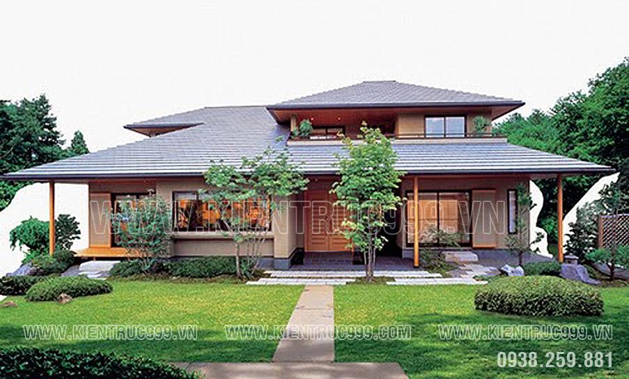 Thiết kế nhà với phong cách mang đường nét Nhật Bản