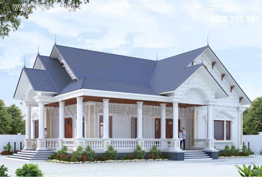 thiết kế nhà cấp 4- biệt thự 1 tầng tuyển chọn 2019