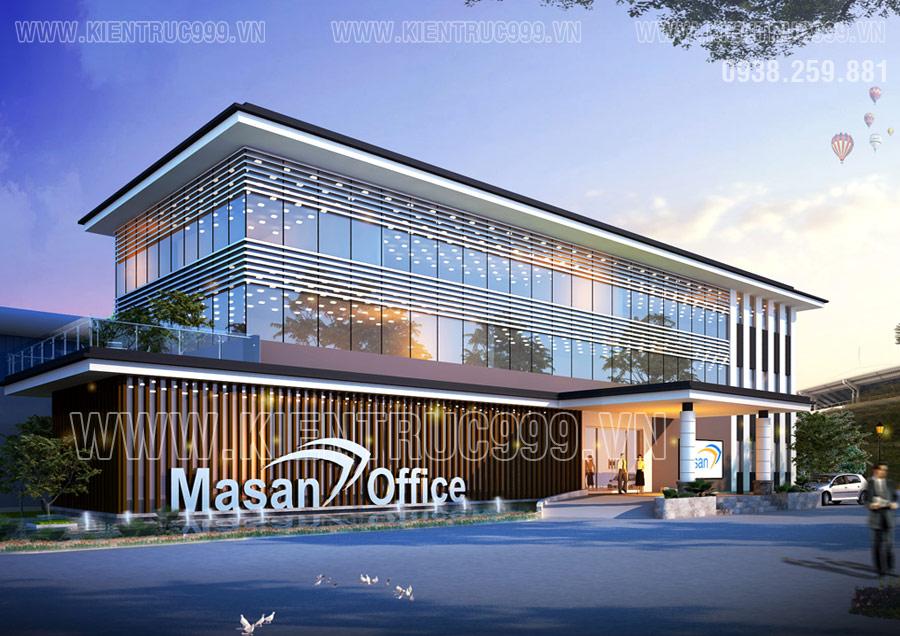 Thiết kế tòa nhà văn phòng KCN phong cách hiện đại Masan Office.